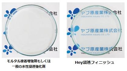 粒子による透明度の違い